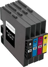 4x XXL GEL PATRONEN GC-31 für Ricoh Aficio GX-E2600 GX-E3300 GX-E3300N GX-E3350N
