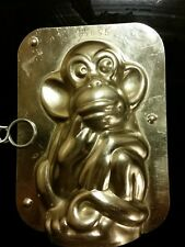 MONKEY AFFE SINGE  DUTCH CHOCOLATE MOLD VINTAGE ANTIQUE - NO RUST