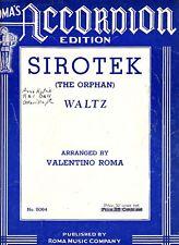 Sirotek Waltz Valentino Roma Vintage Accordion Sheet Music