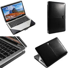 """Luxury Leather Laptop Book Folio Sleeve Case Cover Bag For MacBook Air 13"""" A1932"""