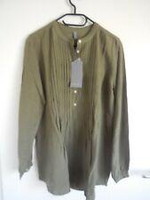 Tunika Bluse von Culture Dänemark Gr XL 42 44 oliv khaki Leinen neu mit Etikett