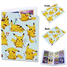 Card Binder Album Folder Book List Portfolio For Pokemon Pikachu Game Collectors