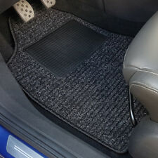 uniTEC Auto Fußmatten Set 4tlg. Taxi Universal Schwarz Textil Teppich Matte