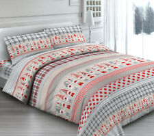 COMPLETO LENZUOLA FRANCESE FOLLETTI ROSSO 100% COTONE MADE IN ITALY