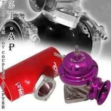 """Turbo Blow Off Valve Bov Type Rs Pruple 2.5"""" Reinforce Silicone Adapter Red"""