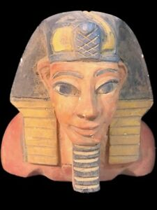 EGYPTIAN BUST STATUE, LATE PERIOD 664 - 332 BC (3) LARGE OVR 11cm  !!!