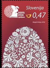17th World Lace Congress mnh stamp 2016 Slovenia