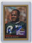 PACKERS Willie Davis signed card 1991 ENOR AUTO Green Bay HOFer AUTOGRAPHED