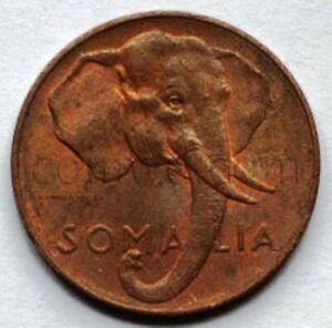 Italian Somalia 1 Sentisimo 1950 Elephant  XF (#4119)