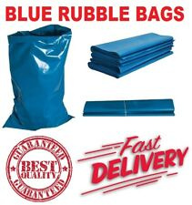 More details for heavy duty blue rubble builders refuse tough waste sacks bags liners