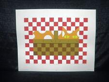 "Edie Harper ""Baskit"" Colorful Cat Limited Edition Serigraph"