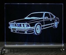 BMW 6er E24   coupe als Gravur auf LED Schild   m30 m88