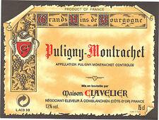 Etiquette de vin - PULIGNY MONTRACHET - Maison Clavelier - Comblanchien