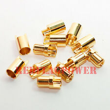 6 pair 6.5 mm bullet connectors goldplated 200 Amp easy soldering 8G 12G wire