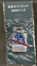 1998 IBM Snowboarding Olympic Pin Japanese Version In Original Package Nagano