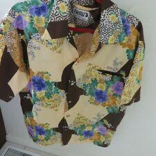 Fumi's Originals Honolulu Hawaii - Shirt Polyester-cloth covered button rare L?