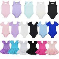 Girls Kids Tutu Ballet Leotard Dance Dress Ballerina Dancewear Costume Size 2-14