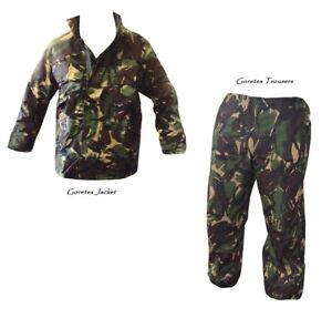 DPM/Woodland Camo GORETEX JACKET + TROUSERS - Waterproof - British Army Grade 1
