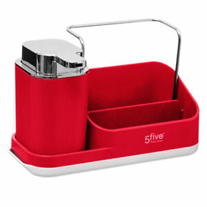 Red Sink Tidy Caddy Organiser with Lotion Dispenser by 5Five  Simply Smart