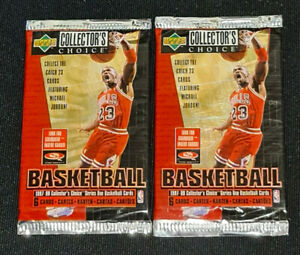 1997-98 Upper Deck MJ Collector's Choice Series 1 (2-Pack Lot) 12 Cards - NEW