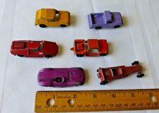 VTG Metal Diecast Tootsie Toy Cars Fiat Jagar Dragster Rabbit Run About Pickup