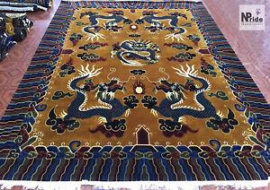 Hand knotted  Tibetan Dragon Rug Carpet Runner - Wool - Handmade - Made to Order