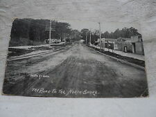NORTH SHORE IL Illinois Town on road to The N.S. early 1900's Postcard