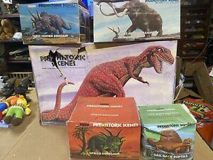 Huge Rare Aurora Prehistoric Scenes Lot New T-Rex Three Horned Mammoth Sail Back