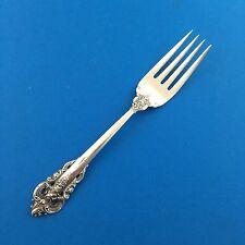 "Antique Wallace Grande Baroque 6.5"" Salad Fork Sterling Silver"