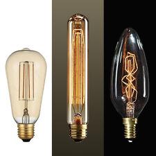 Light Bulb Retro Vintage LED Edison Style Spiral Filament E27 E14 40W 60W UK