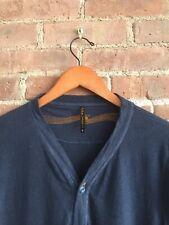 Nudie Jeans Mens Cardigan Sweater, 100% Cotton, Size Medium Indigo Portugal