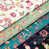 Cotton Fabric FQ Paris Eiffel Tower Rose Flowers Butterfly Perfume & Shoes VK106