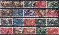 1932 Regno Decennale Marcia su Roma completa usata 20 valori con P.A. e Espressi