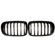 2x For BMW F25 X3 2010-2014 Pre-Facelift Gloss Black Front Bumper Kidney Grilles