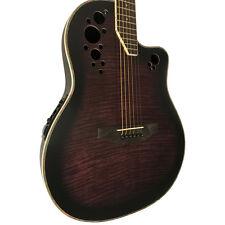 COBAN ELECTRO 4eq Violet éclatant acoustique Rond arrière guitare avec câble &