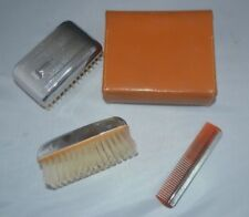 Vintage 1960s Gents Grooming Kit  Brush & Combe