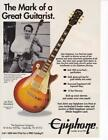 Rare 1993 Epiphone Les Paul Standard Guitar Ad/ Les Paul