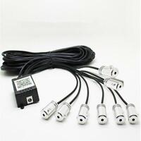 12in1 RGB LED 10M Car Interior Neon EL Fiber Optical Strip Light Bluetooth App