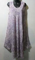 Sundress Fits 1X 2X 3X Plus Long Tunic Dress Purple Tie Dye A Shaped NWT 5801