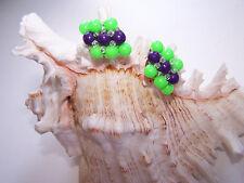 50er Jahre Ohrringe Clips Vintage  grün lila Modeschmuck  (30)