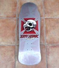"""1980s Vintage Powell Peralta """"Tony Hawk Chicken Skull"""" Silver Skate Deck Shrink"""