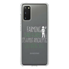 Clear Case for Galaxy S (Pick Model) Farming Not Career Post Apocalyptic Skill