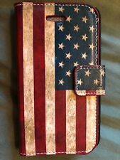 Brand New! AMERICAN FLAG Wallet-Cover For iPhone 4G/4GS