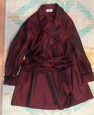 Wallis Ladies Wine Red Polyester/Acetate Belted Jacket