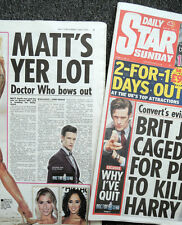 DAILY STAR NEWSPAPER 2 JUNE 2013 . MATT SMITH QUITS DOCTOR WHO FRONT COVER