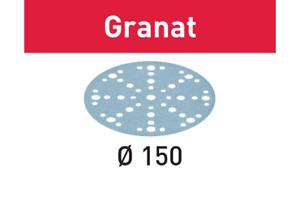 Festool Schleifscheiben 150mm K40 - K400 Granat STF Klett 10 Stück div. Körnung