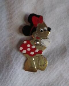 Vintage antique 1940's Disney Minnie mouse pin back brooch
