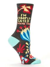 Blue Q Women's Humorous Crew Combed Cotton Socks I'm Complicated Thank You