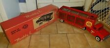 BUDDY L WILD ANIMAL CIRCUS TRACTOR TRAILER WITH ORIGINAL BOX AND ANIMALS GREAT