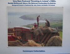 More details for very very rare postcard.'threshing in ireland' c1980s. please see notes.ah4440.